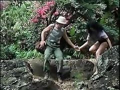 ретро порно в лесу